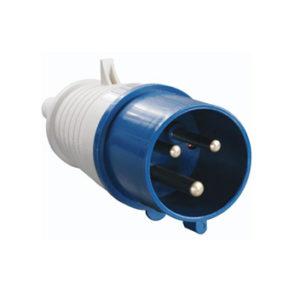 Вилка силовая переносная 023 2Р+РЕ 32А 220В пластиковая IP44 ИЭК