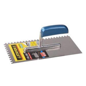 Гладилка STAYER ПРОФИ нержавеющая с деревянной ручкой зубцами 6х6мм, 130х280мм