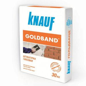 Штукатурка гипсовая Кнауф Гольдбанд 30 кг