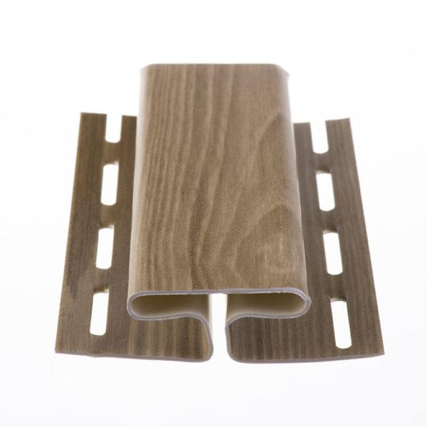 H-профиль для сайдинга Орех 3050 мм БлокХаус Деке (Docke)