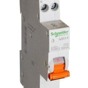 Дифференциальный автомат АД63 1мод. 2P 25А 30mA С Schneider Electric Домовой