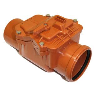 Клапан обратный ПВХ 110мм для наружной канализации РОССИЯ