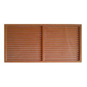 Решетка радиаторная ПВХ 1200 х 600 мм коричневая