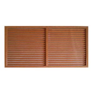 Решетка радиаторная ПВХ 1500х600 мм коричневая