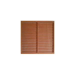 Решетка радиаторная ПВХ 600х600 мм коричневая