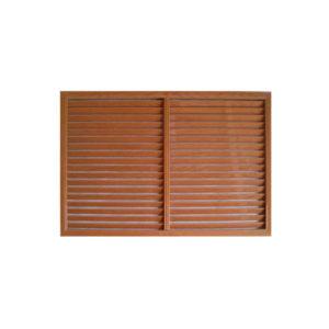 Решетка радиаторная ПВХ 900х600 мм коричневая