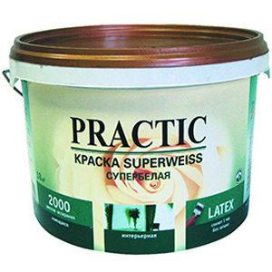 Краска PRACTIC Superweiss супербелая интерьерная 10 л