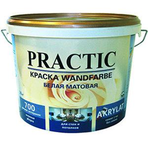 Краска PRACTIC Wandfarbe для стен и потолков 10 л