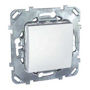 Механизм выключателя 1 кл белый Unica Schneider Electric