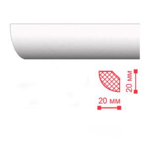 Декоплинтус потолочный Nomasty ММ 20х20 мм 2 м