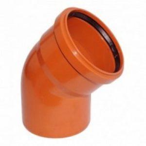 Отвод ПВХ 110х45гр для наружной канализации РОССИЯ