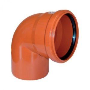 Отвод ПВХ 110х90гр для наружной канализации РОССИЯ