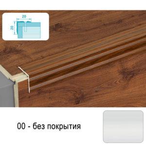Порог угловой ЛУКА 900х20х20 мм без покрытия ПУ 05-900-001