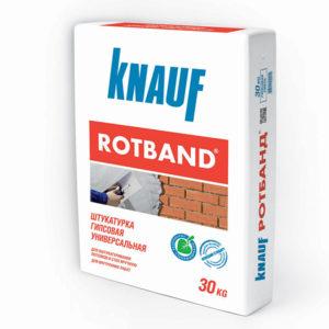 Штукатурка гипсовая Кнауф Ротбанд серый 30 кг
