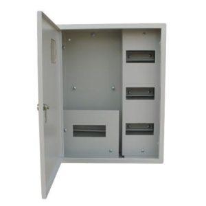 Щит металлический навесной ЩРУ 3Н-25 на 25 модулей под счетчик с замком и окном 500х400х155 RUCELF
