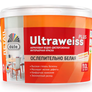Краска Dufa Retail ВД ULTRAWEISS PLUS 10 л