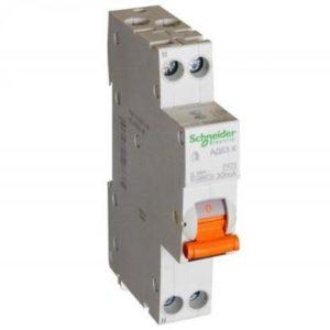 Дифференциальный автомат АД63 1мод. 2P 16А 30mA С Schneider Electric Домовой