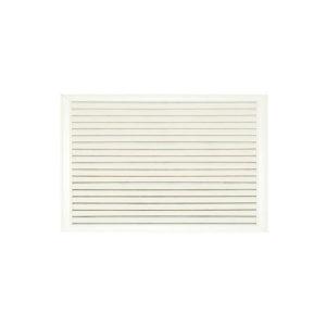 Решетка радиаторная ПВХ 900х600 мм белая